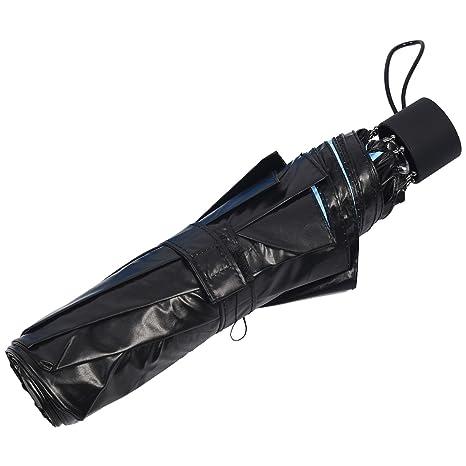 TOOGOO (R) moderno abajo Upside Down paraguas c-handle doble capa del revés