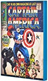 Marvel Comics: Captain America Retro Comic Cover 7 by 10.25 Inch Solid MDF Wood Box Art, Green, Spider-Man Superhero Wooden Wall Plaque Artwork For Comic Fans