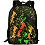 OIlXKV Colorful Butterfly Print Custom Casual School Bag Backpack Multipurpose Travel Daypack For Adult