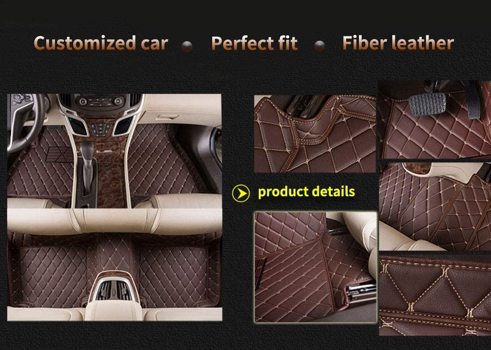 muchkey car Floor Mats fit for BMW X5M F85 2015-2018 Custom fit Luxury Leather All Weather Protection Floor Liners Full car Floor Mats