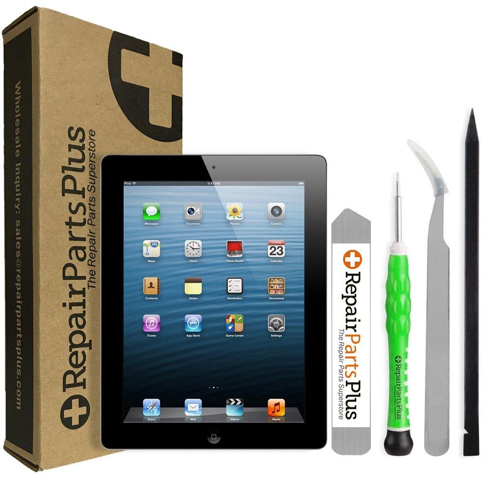 iPad 2プレミアムスクリーン交換用LCD、ガラスデジタイザとホームボタンキットby repairpartsplus  ブラック B07F948CG6