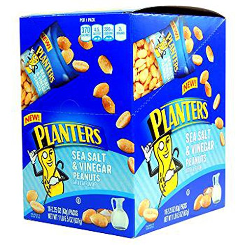 Product Of Planters, Peanut Sea Salt & Vinegar, Count 10 (2.25 oz) - Nut & Dry Fruit / Grab Varieties & Flavors