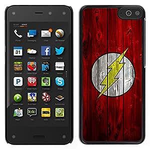 Design for Girls Plastic Cover Case FOR Amazon Fire Phone Lightning Bolt Superhero OBBA