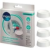 wpro SKA202 - Waschmaschinenzubehör/ Schwingungsdämpfende Unterlagen aus Gummi/ Vibrationsdämpfer/ 4 Stück