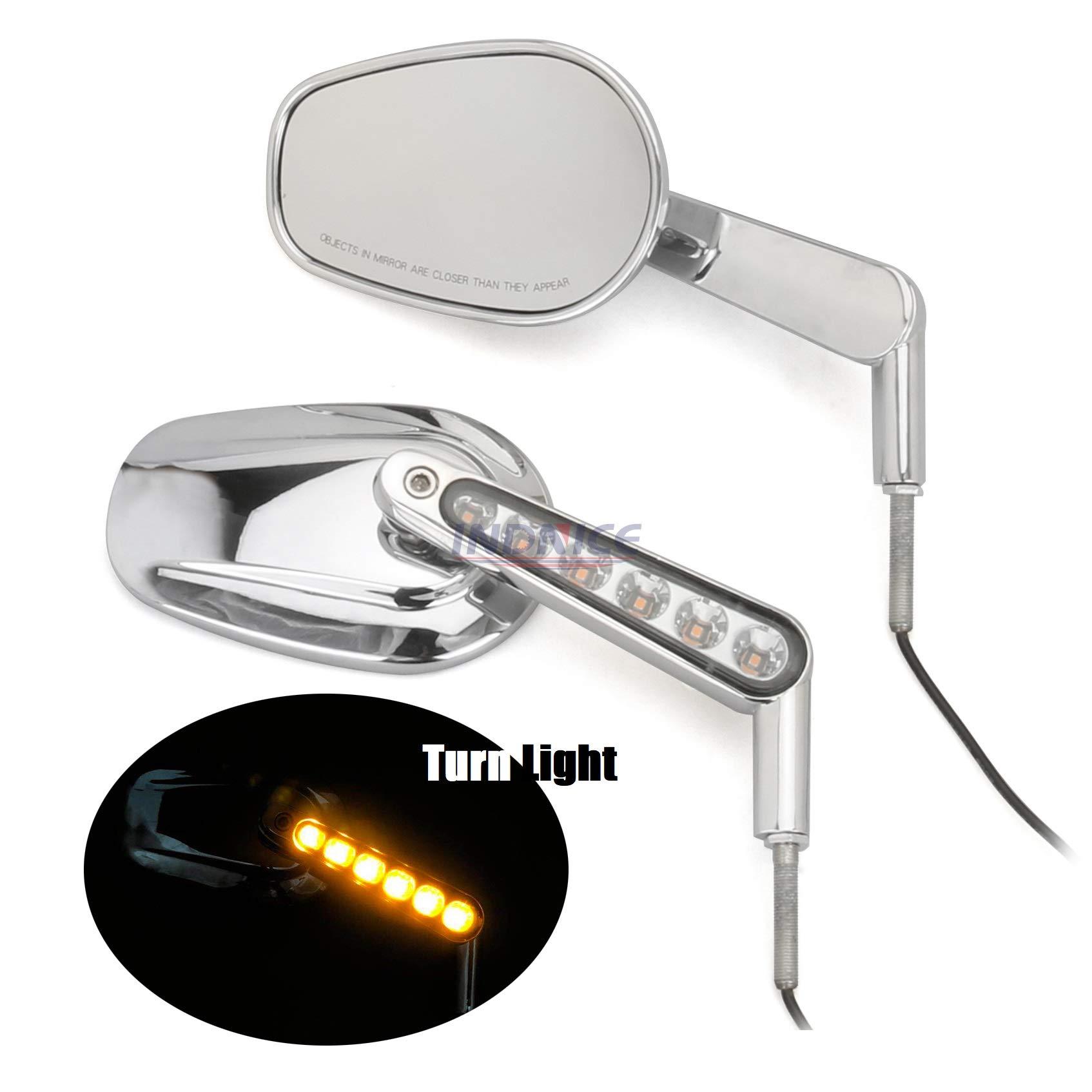 Rear View Mirrors Muscle LED Turn Signals Light For Harley V-ROD V ROD VRSCF