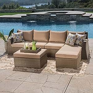 Sirio Hampton 6-piece Patio Furniture Set - Beige