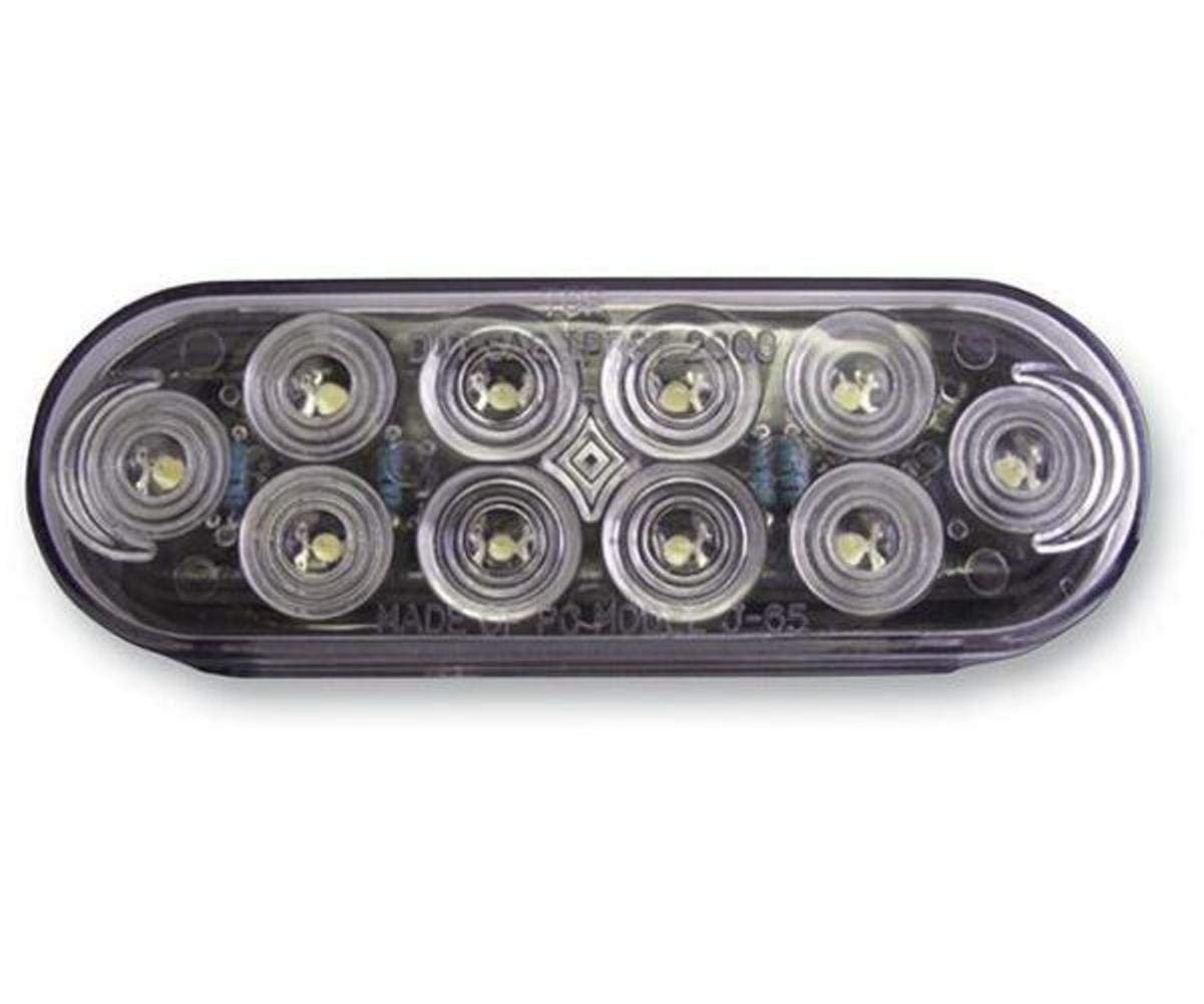 Bluhm Enterprises BL-TRLEDEOR Red 6 Oval Trailer Light Euro 10 Led 42-30501