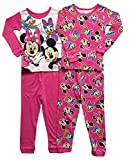 (US) Disney Minnie Mouse Little Girls Toddler 4 Pc Cotton Pajama Set (4T)