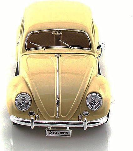 VW Escarabajo 1955 beige coche modelo 1:18 Burago