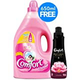 Comfort Fabric Softener Flora Soft + Comfort Concentrated Fabric Softener, 4 Litre + 650 ml