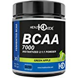 HealthOxide BCAA 7000 Amino Acid INSTANTIZED 2:1:1 POWDER - 300 gm (GREEN APPLE)
