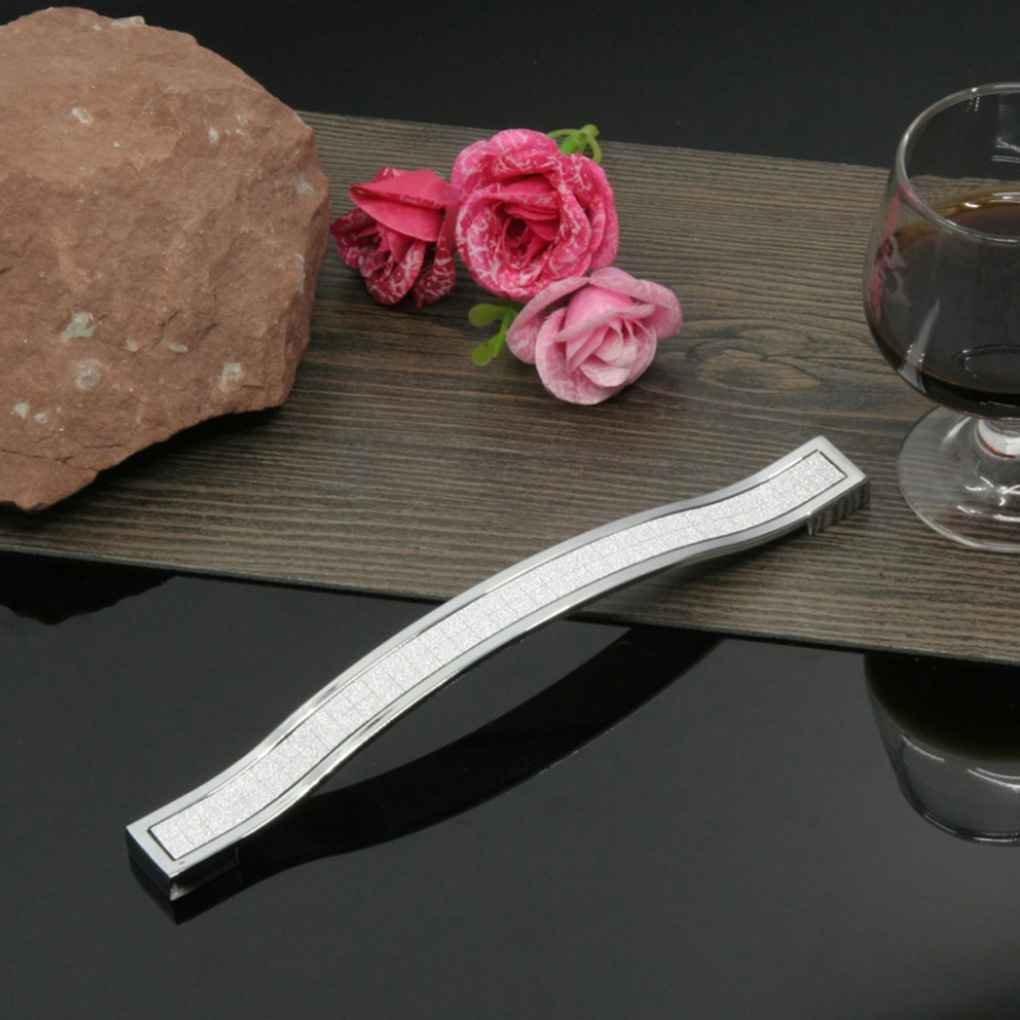 Elenxs New Modern Door Shinning Long Handles Pull Knobs Fit for Kitchen Cabinet Cupboard Wardrobe Drawer Closet black sand white/&96mm 96mm