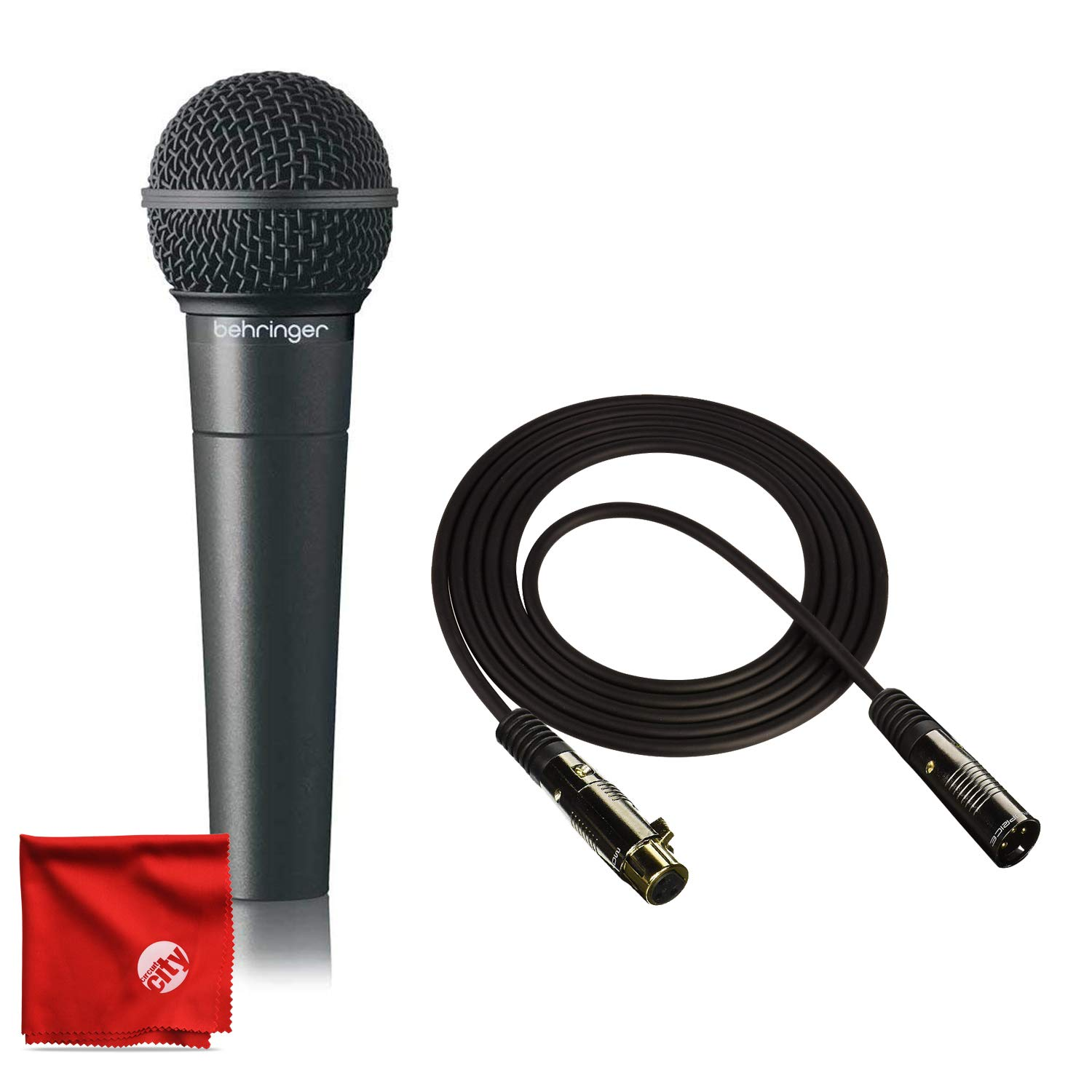 Behringer XM8500 Dynamic Microphone Bundle with Pro 10ft XLR Cable by Circuit City
