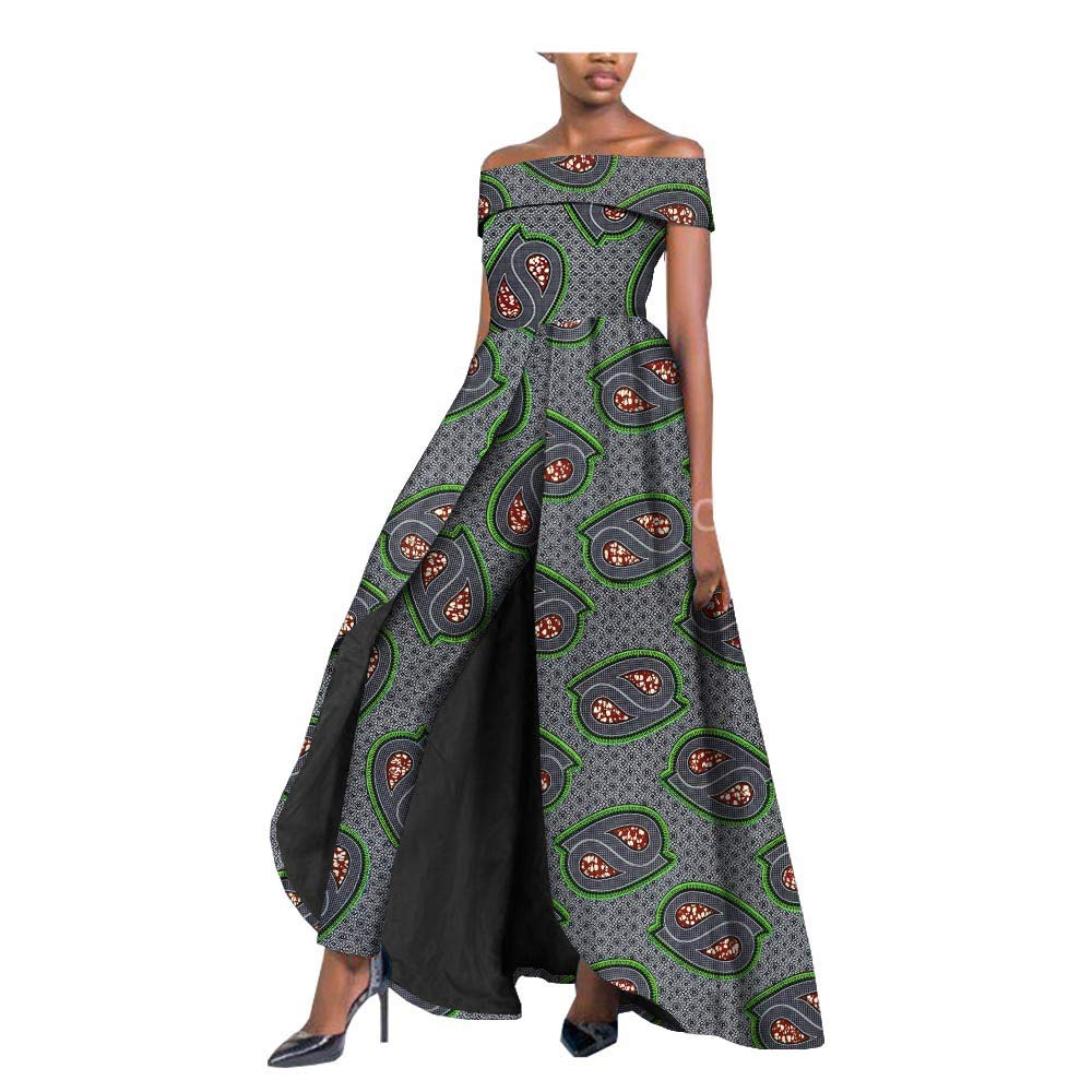 364 private afripride African Dresses for Women Long Splits Dress+Long Ankara Pants TwoPiece Suits for Lady Dashiki Plus Size