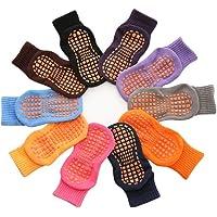 tianxiangjjeu 10 paar trampoline sokken kinderen kinderen antislip comfortabele katoen elastische sport enkel vloer…