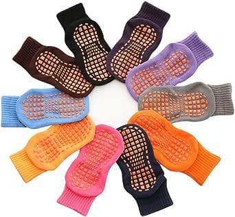 tianxiangjjeu 10 paar trampoline sokken kinderen kinderen antislip comfortabele katoen elastische sport enkel vloer zomer spel apparatuur