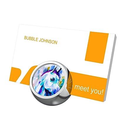 Amazon futuroo arabian horse business card holder desk futuroo arabian horse business card holder desk business card display cute customized luxury texture metal colourmoves
