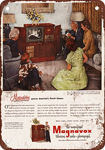 """7"""" x 10"""" Metal Sign - 1952 Cecil B. DeMille for Magnavox TV"""