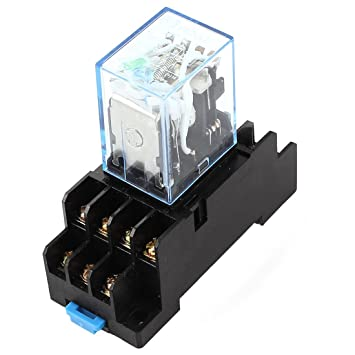 amazon com uxcell hh54p dc 12v coil 4pdt 14 pins electromagnetic uxcell hh54p dc 12v coil 4pdt 14 pins electromagnetic power relay w dyf14a base