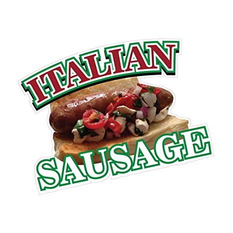 Italian Sausage DECAL Food Truck Vinyl Sign Concession CHOOSE YOUR SIZE