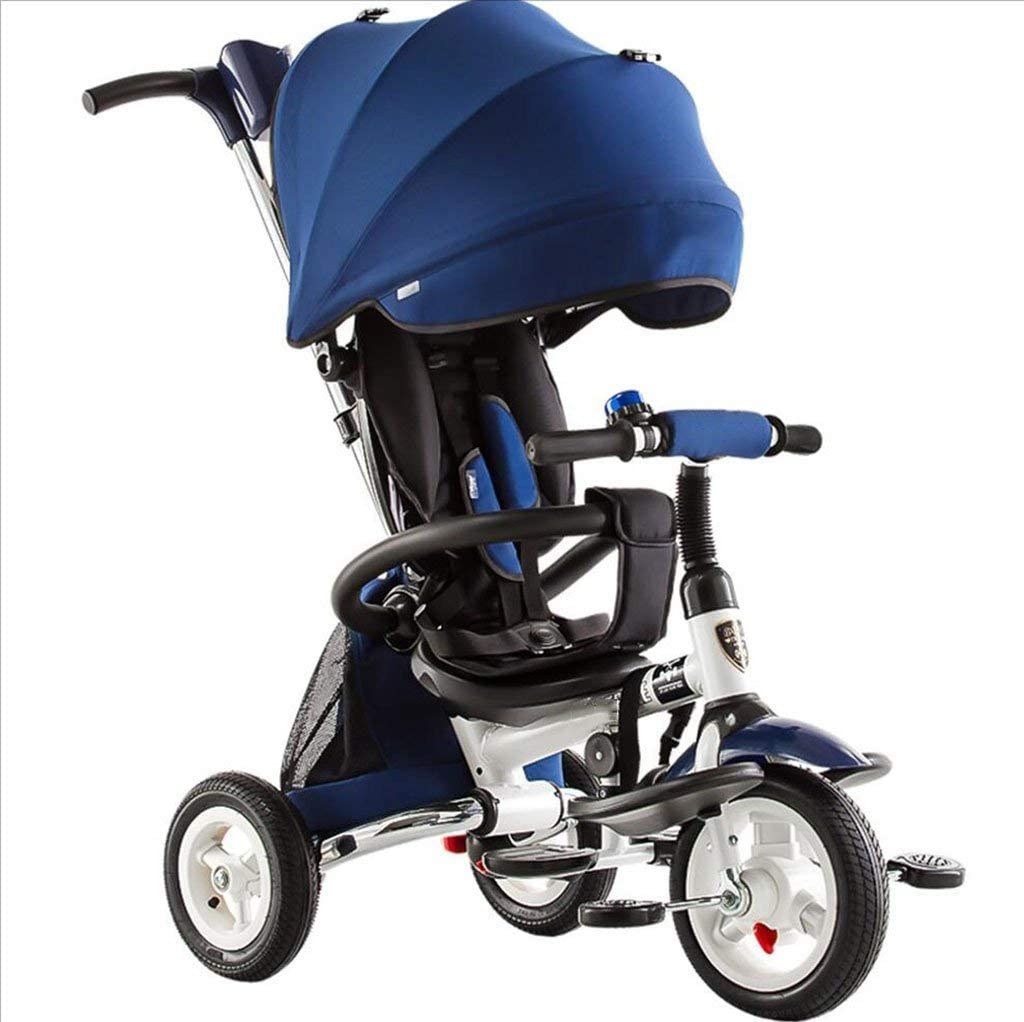 快適なPrams子供ベビートロリー三輪車折りたたみ1-3-6歳のベビーカー子供自転車ベビーバイクバイク(色:D)