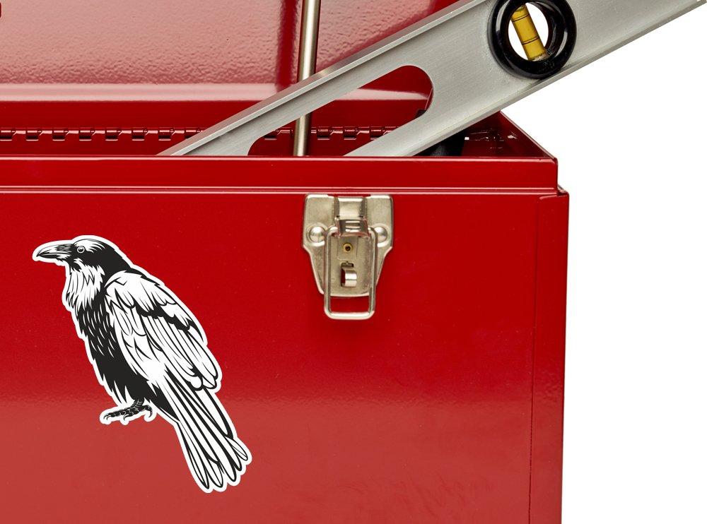 2/x Pegatinas de vinilo de cuervo equipaje de viaje # 10563