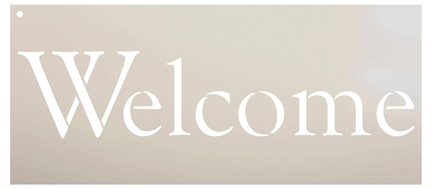 photo regarding Welcome Signs Template called : Welcome Indication Stencil as a result of StudioR12 Reusable