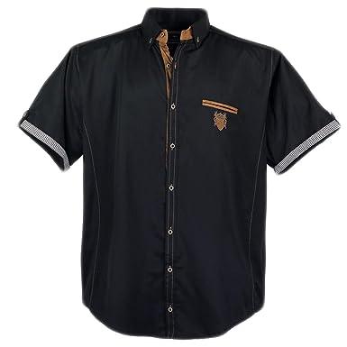 Sportliches Herren kurzarm Hemd von Lavecchia in Übergröße schwarz Größe   5XL 455c226255