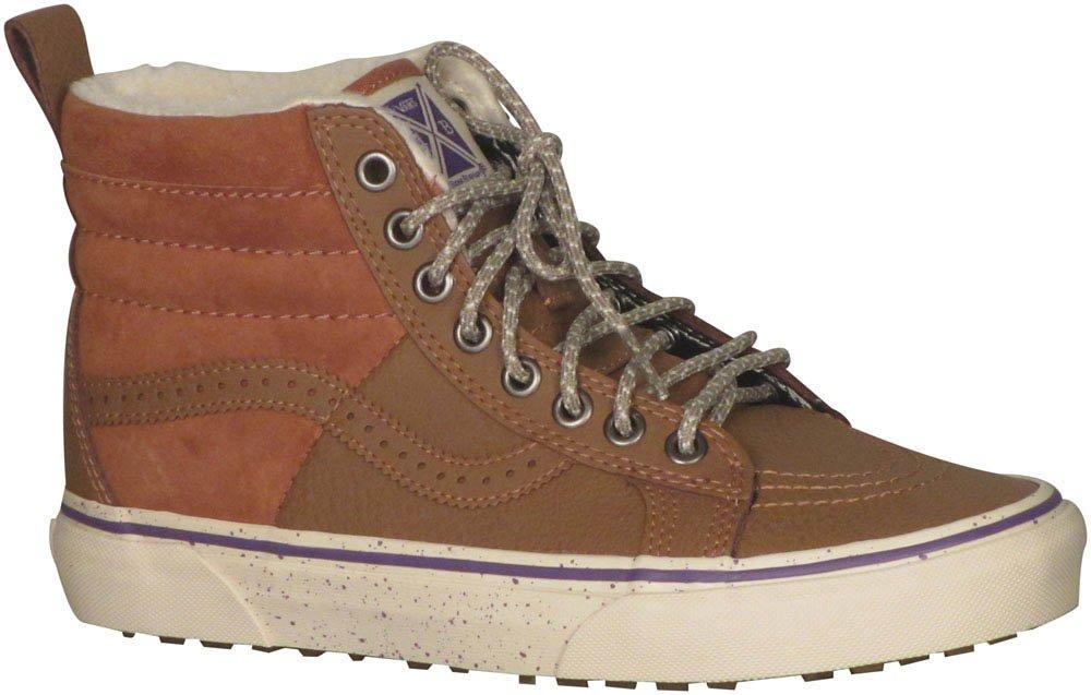 Vans Sk8-Hi Unisex Casual High-Top Skate Shoes, Comfortable and Durable in Signature Waffle Rubber Sole B019KUIGLA 10 B(M) US|(Hana Beaman) Brown/Angora