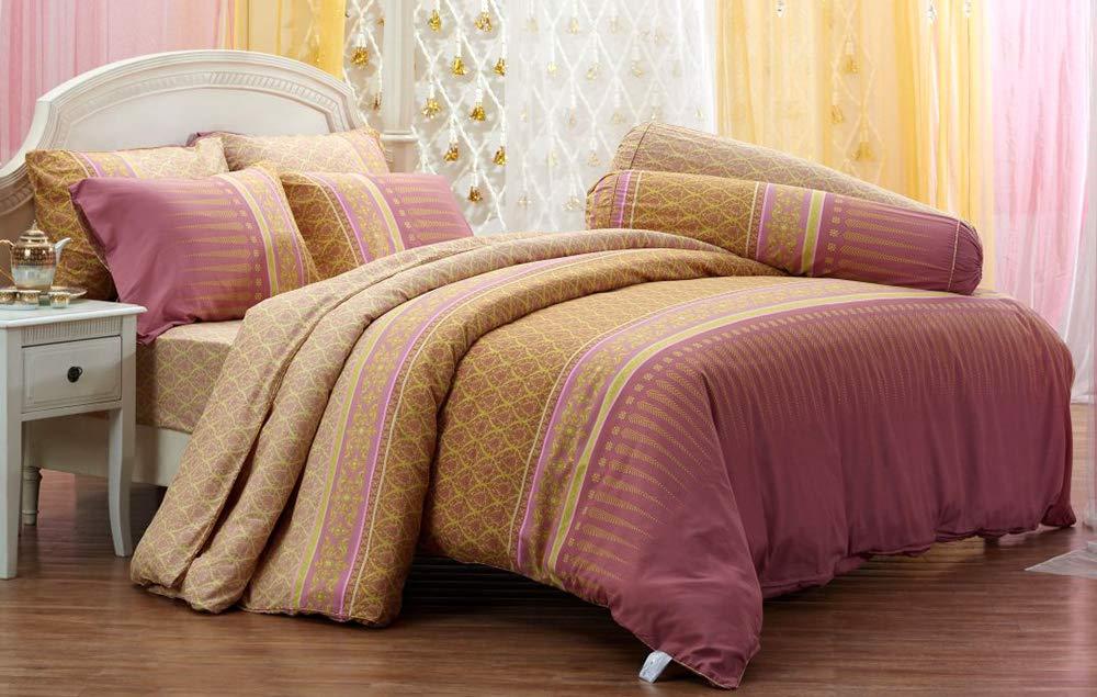 タイデザインスタイルパターン寝具セット ボックスシーツ1枚 枕カバー2枚 ボルスターケース2枚 掛け布団セット1枚 Twin 42