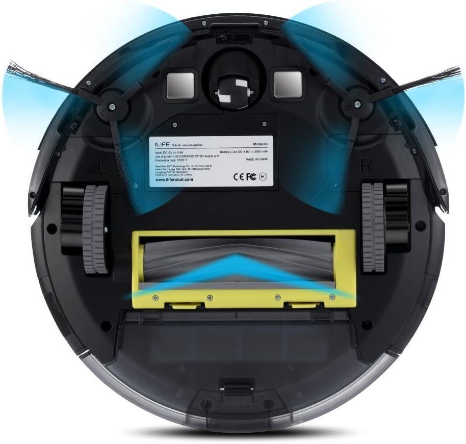 ILIFE A6 Robot aspirador, color negro piano: Amazon.es: Hogar