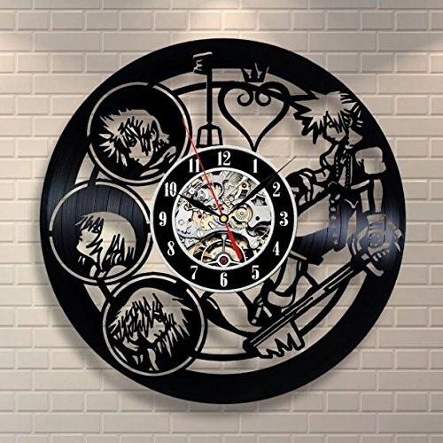 キングダムハーツ 壁掛け時計 レコード スクエニ ディズニー   B07CGKY4BY