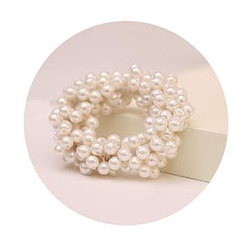 1PCS Fashion Pearl Headwear Elastic Hair Bands Hair Elastic Rubber Bands  Ring Tie Hair Accessories S e23975729a7