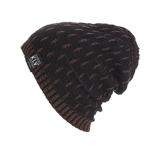 b16024e52d00c Perman Men Women Warm Crochet Winter Wool Knit Ski Beanie Skull Slouchy Cap  Hat (Black
