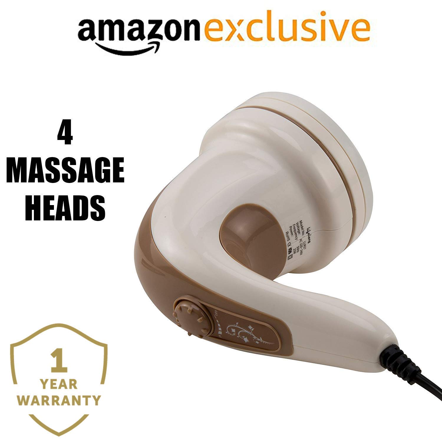 Lifelong LLM27 Electric Handheld Full Body Massager (Brown) product image