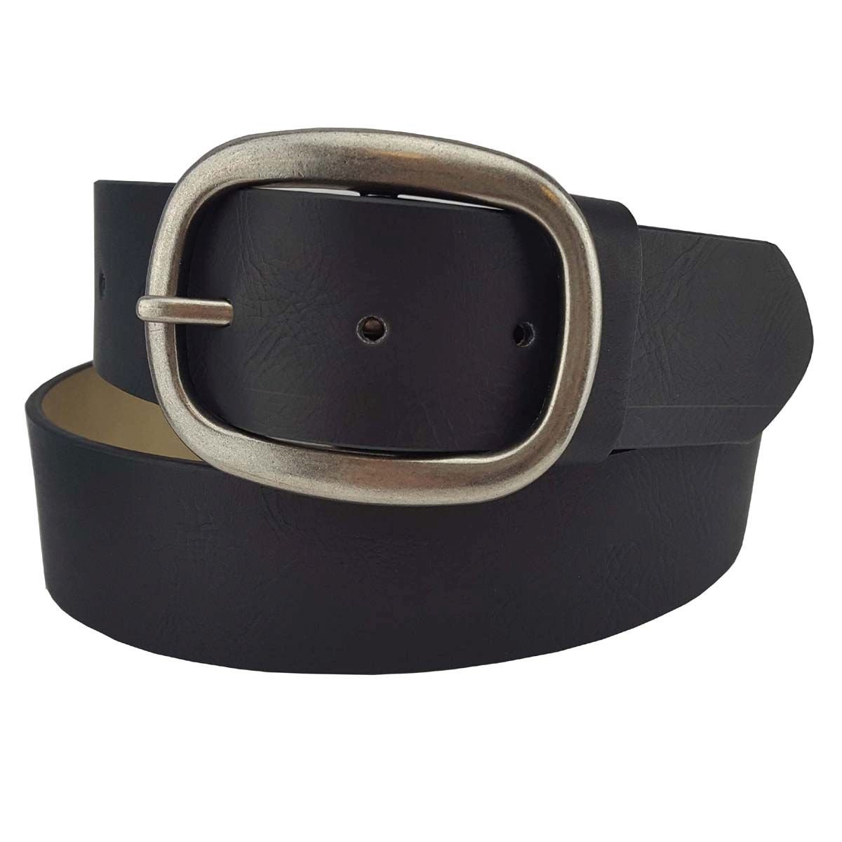 Vegan Plain Belt in Black XL