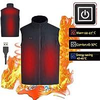 Recargable de USB sharprepublic Chaleco El/éctrico Calentador Lavable Cahqueta Invierno Caliente Chaleco T/érmico para Mujeres Hombres