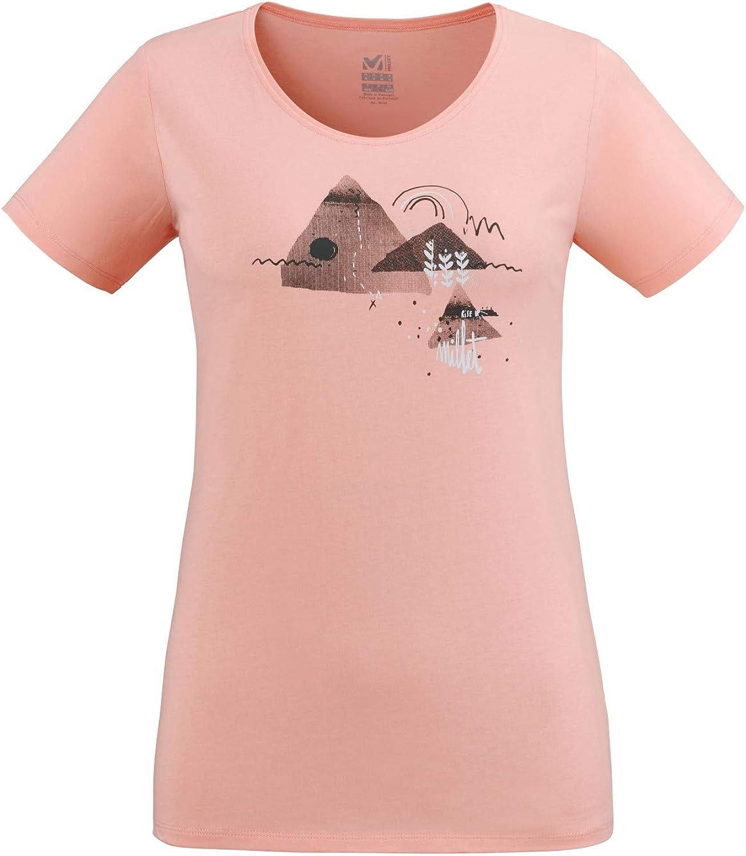 Millet Esterel TS SS W Pop Coral, Camiseta de Senderismo y Urbano para Mujer. Pop Coral L: Amazon.es: Ropa y accesorios