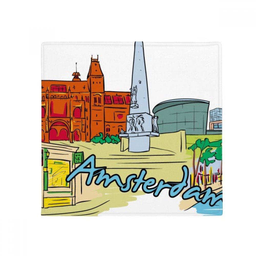 DIYthinker Netherlands Armsterdam Watercolor Anti-Slip Floor Pet Mat Square Home Kitchen Door 80Cm Gift