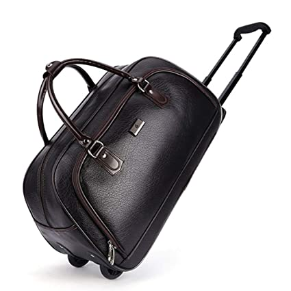 Amazon Com Imitation Leather Weekend Travel Duffle Trolley Bags