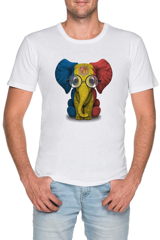 Bebé Elefante con Gafas y Andorra Bandera - Andorra Hombre ...