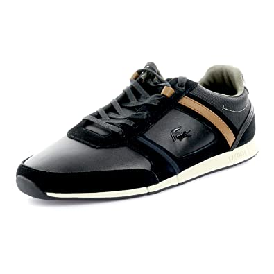 77c14ba0d Lacoste Mens Menerva 318 Cam Trainers in Black Brown  Amazon.co.uk ...