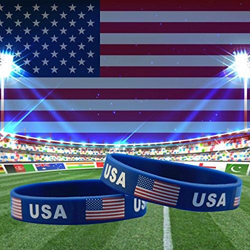 Amazon.com: tovip nueva bandera americana pulsera de ...