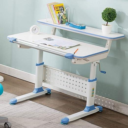 DWLXSH Mesas de altura ajustable for niños mesa sólida con Gaveta ...
