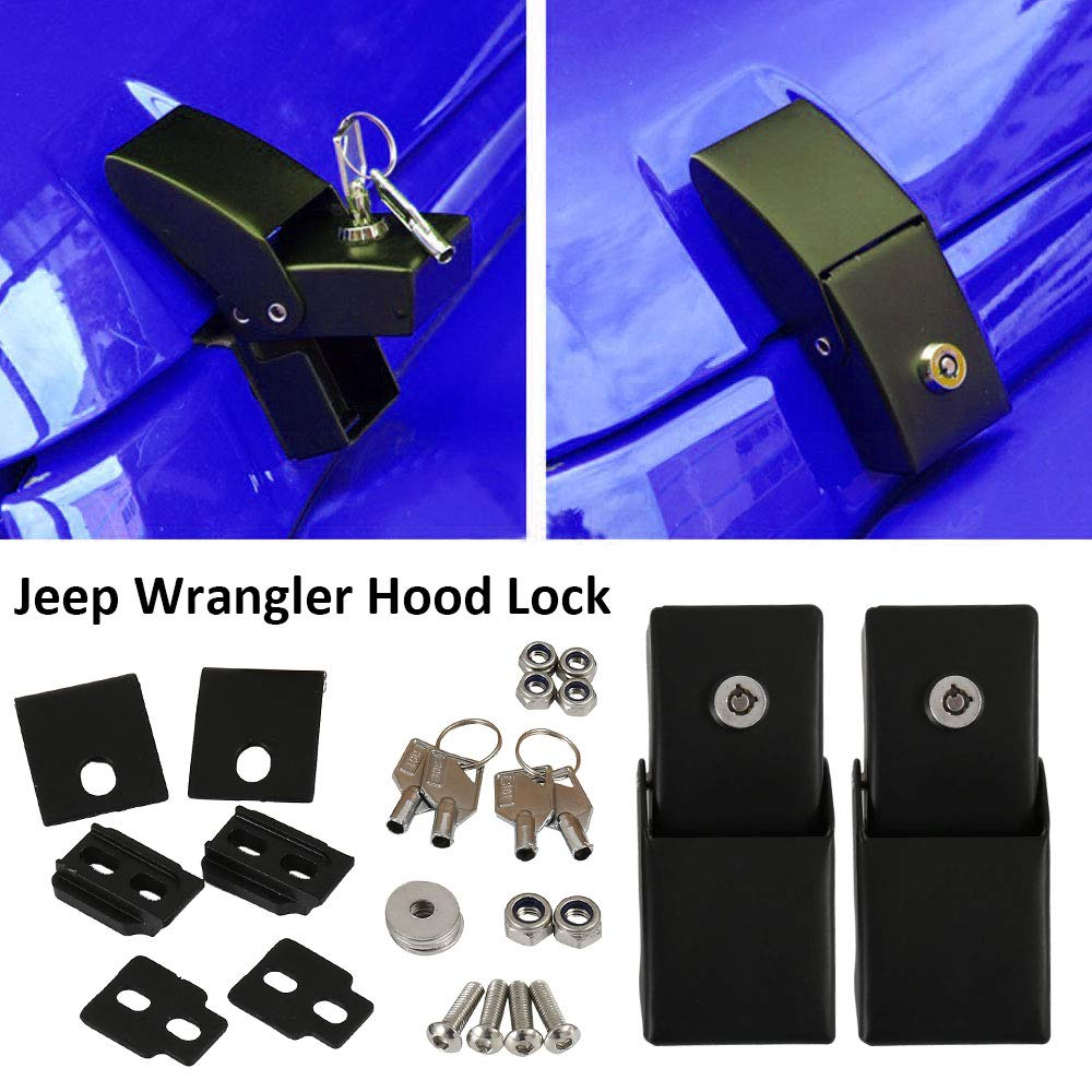 Kit de Cerradura para cap/ó de Aluminio para Jeep Wrangler JK 2007-2017 WarmCare