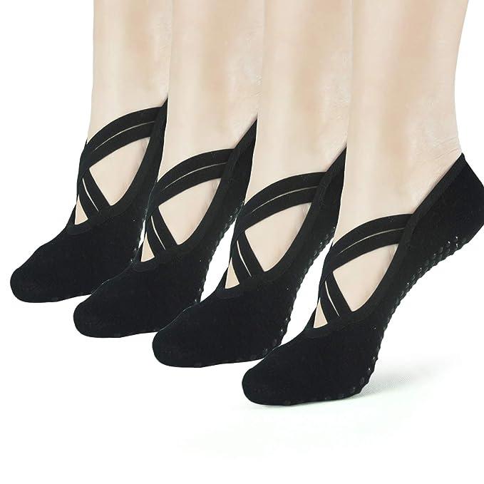 Amazon.com: Sticky - Calcetines de yoga antideslizantes para ...