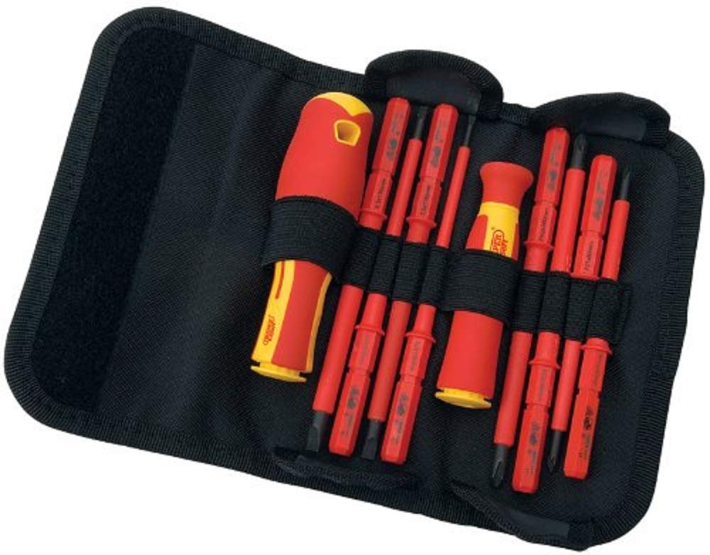 1000 V Interchangeable SL PH Electricians Screwdriver Set  Fully Insulated
