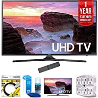 Samsung 74.5-Inch 4K Ultra HD Smart LED TV 2017 Model (UN75MU6300) with 1 Year Extended Warranty,HDMI Cable, Screen Cleaner for LED TVs, Samsung 65 Ultra HD Smart LED TV & 6-Outlet Surge Adapter
