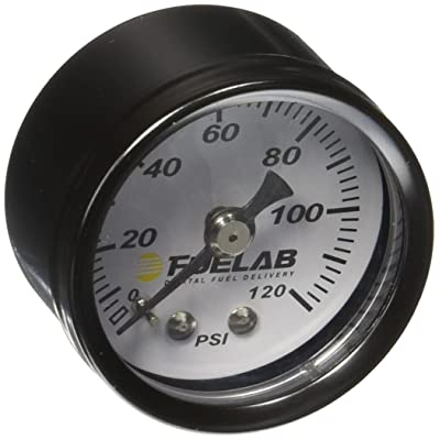 "Fuelab 71501 1.5"" 0-120 Psi EFI Fuel Pressure Gauge,Small: Automotive"
