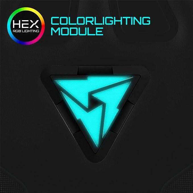Amazon.com: ThunderX3 RC3 HEX Office Gaming Chair - AIR Tech, RGB Lighting Module, Ergonomic Design, Class-4 Gas Lift, Adjustable Backrest (Black/Cyan): MP3 ...